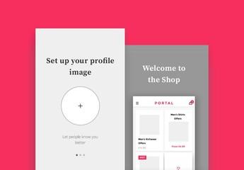 App Login and Sign-Up UX/UI Kit 3