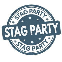 Stag party sign or stamp