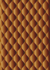 vector drawing of the dark brown quilted leather