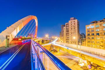 Taipei cityscape and bridge