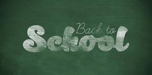 Composite image of graphic image of back to school text