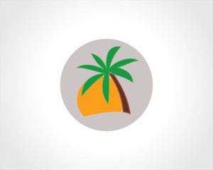 tree palm icon logo