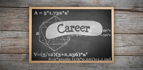 Composite image of image of a chalkboard