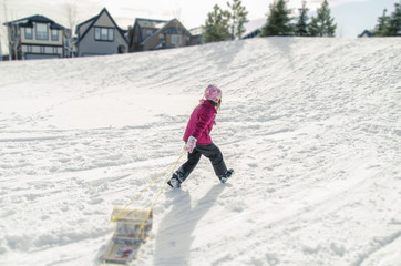 winter snow hill