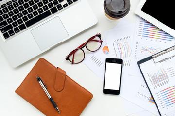 Modern white office desk table