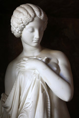 """""""La Pudeur cède à l'Amour"""" or """"Modesty gives way to Love"""" sculpted 1853 by Jean Baptiste Joseph Debay the Younger, 1802-62. Palace of Fontainebleau."""