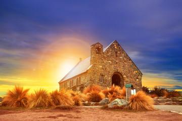 Aluminium Prints New Zealand church of good shepherd south island new zealand