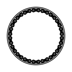 frame with chain bicycle vector illustration design