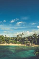 Quiet beach in Bali, Indonesia.