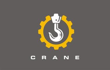 Construction and building symbols and logo designs with  crane hook. Construction logo, Building icon logo design.