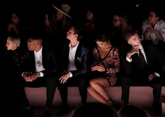 Ansel Elgort and Russell Westbrook attend the Tom Ford Spring Summer 2018 collection during New York Fashion Week in the Manhattan borough of New York