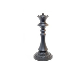 Large Black Queen Chess Piece