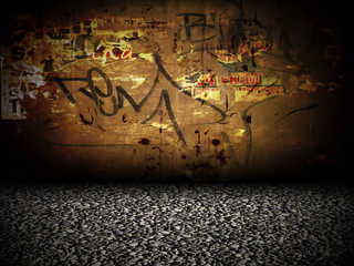 Graffiti Wall Interior Room Stage Background
