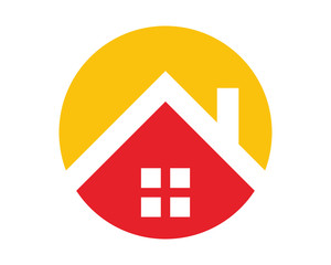 red roof home house residential architecture image icon vector