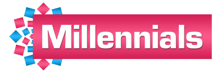 Millennials Pink Blue Circular Bar