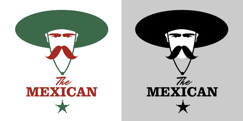 Symbolic image of Mexican man with mustache and hat