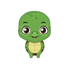 Cute stylized cartoon turtle illustration ( for fun educational purposes, illustrations etc. )