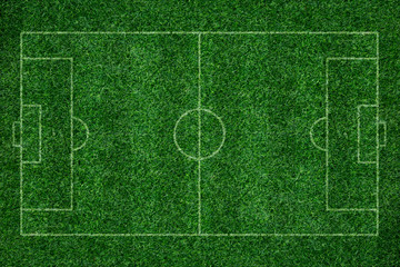 green grass texture background of soccer field top view