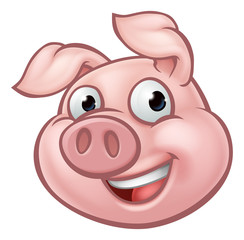 Pig Cartoon Character Mascot