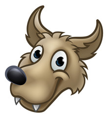 Cartoon Wolf Character Mascot
