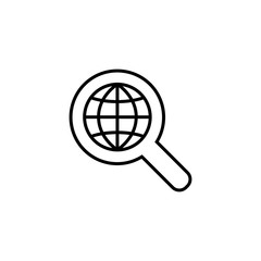 global search symbol line black icon
