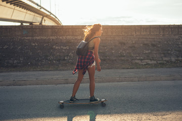 Driving long board