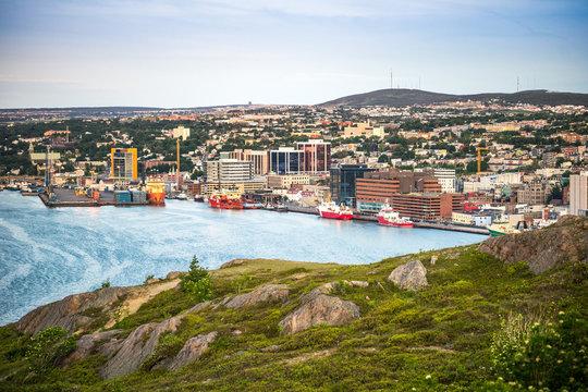 St. John's cityscape, capital city of Newfoundland and Labrador, Canada