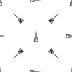 Broom floor pattern seamless black