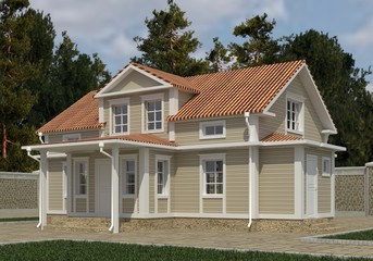 Building Photo Realistic Render 3D Illustration
