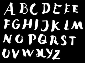 Hand drawn alphabet letters Vector on chalkboard eps10