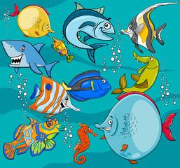 fish cartoon characters group