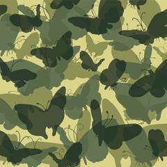 Camouflage Schmetterling grün