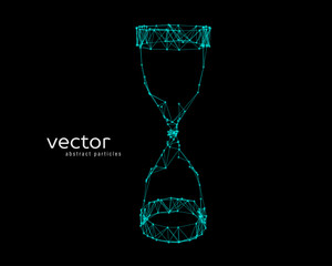 Abstract vector illustration of a sand clock.