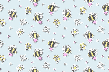bee in love seamless