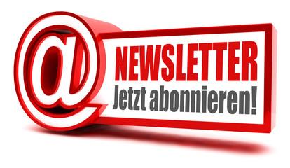 Newsletter jetzt abonnieren! Button, Icon