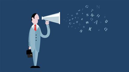 megafono, coordinatore,  urlare, comunicare