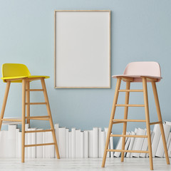 Ladders of Knowledge with ck up poster, 3d illustration