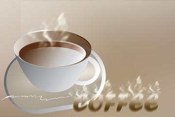coffee art and smoke