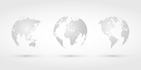 silver world globes