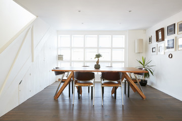Home Interior With Open Plan Dining Area