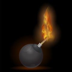 Burning Bomb Icon