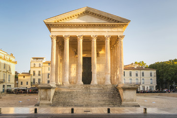 Maison Carrée in Nimes - France