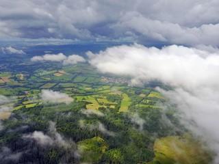 Hoherodskopf im Vogelsberg aus der Luft