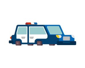 police car cartoon style. patrol car vector illustration