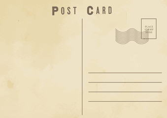 retro old postcard design vector illustration