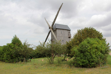Aluminium Prints Mills vieux moulin à vent
