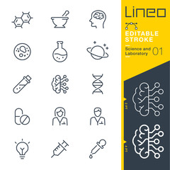 Lineo Editable Stroke - Science and Laboratory line icons Vector Icons - Adjust stroke weight - Expand to any size - Change to any colour