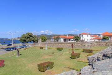 Vista da vila de Caminha em Portugal