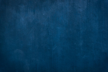 Grunge Blue painted on cement background and texture
