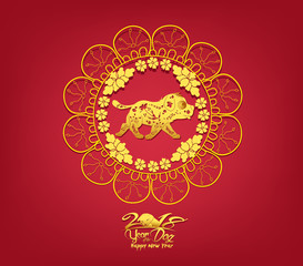 Oriental Happy Chinese New Year 2018. Year of the dog Design